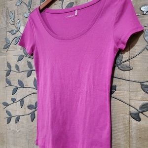 CASLON 100% Organic Cotton Scoop Neck Tee Size PM